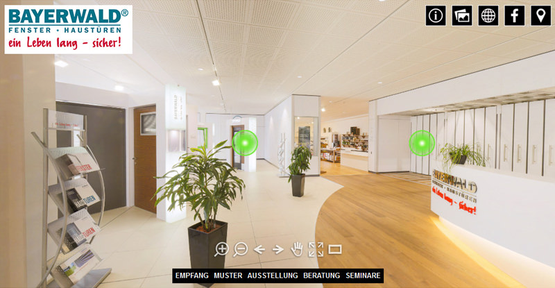 360° Tour: BAYERWALD Fenster & Haustüren Rutesheim