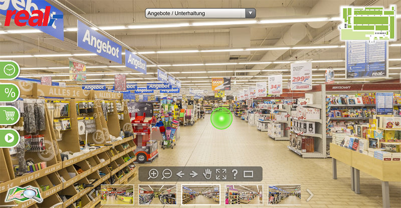 360° Tour: real,- Markt Gerlingen